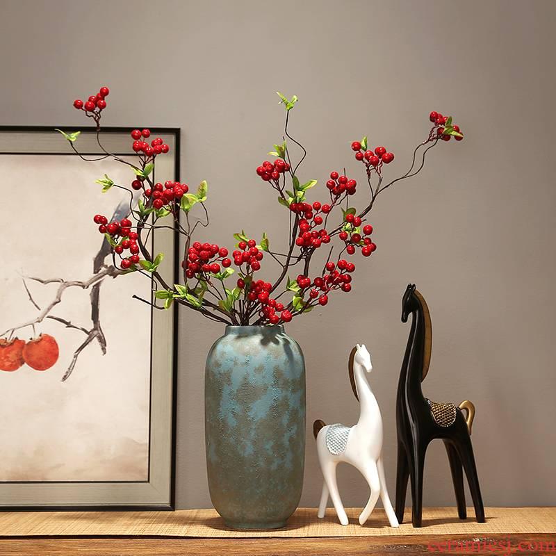 Jingdezhen ceramics dried flower vase TV cabinet modern creative home furnishing articles, the sitting room porch decoration decoration