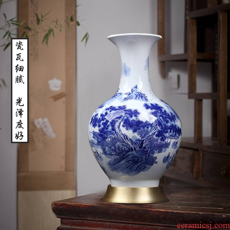 I and contracted sitting room porch reward bottled ornaments of jingdezhen blue and white ceramics new Chinese style household vase furnishing articles