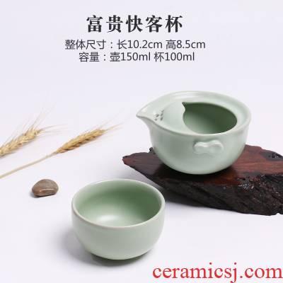 Your up crack cup travel ceramic teapot a pot of tea portable office cup of kung fu tea set
