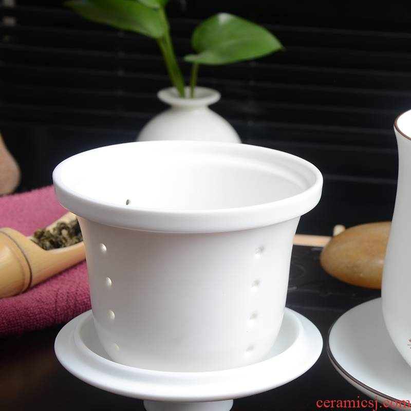Qiao mu hand - made ceramic cups with cover filter cup boss keller cup cup gift custom office meeting