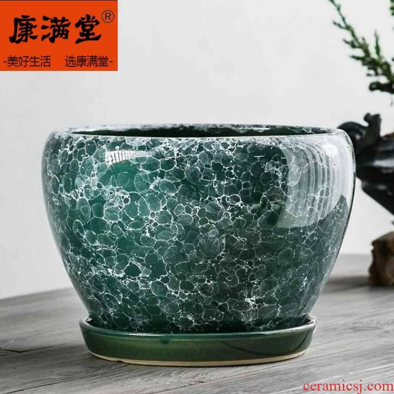 Macrobian flower pot indoor ceramic yushu special flower POTS, Color flower pot candy Color ceramic er