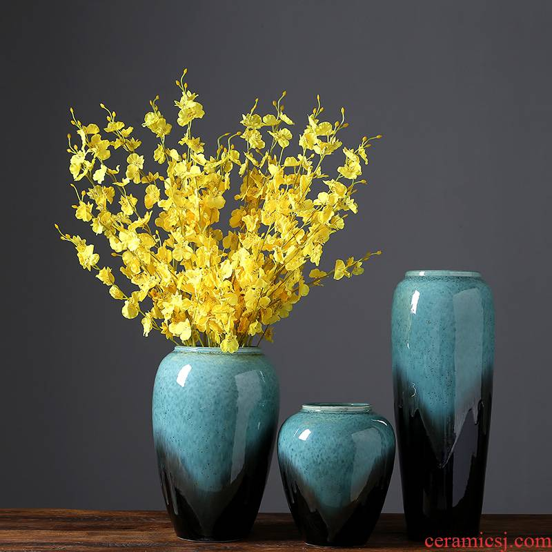 Jingdezhen Chinese I household ceramics vase rich ancient frame sitting room decoration checking crafts decorative furnishing articles