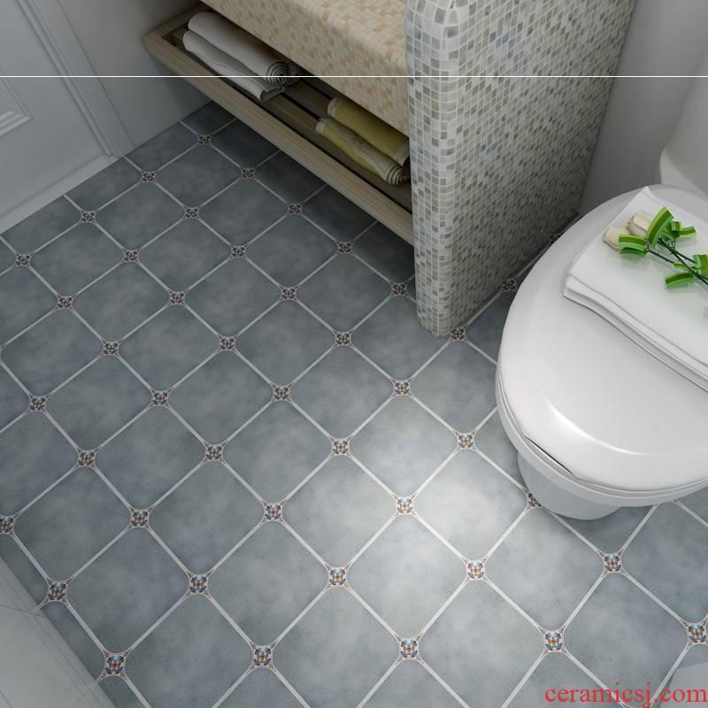 The sitting room toilet floor tile floor adhesive American kitchen stickers waterproof floor tile prevent slippery ceramic tile wall stickers