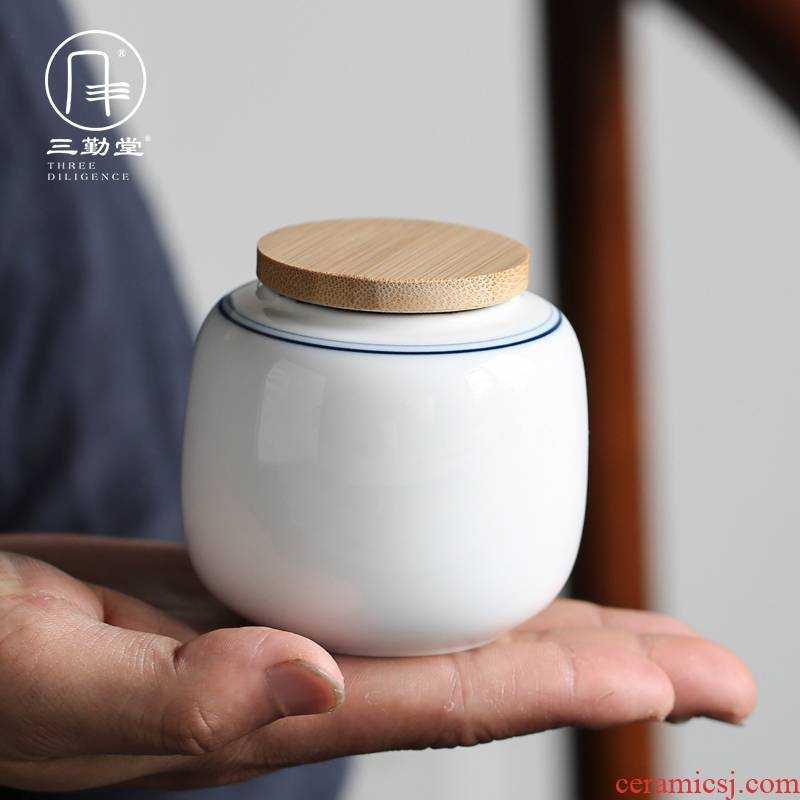 Three frequently hall jingdezhen ceramic tea pot mini seal pot portable tea tea set travel warehouse receives S51012