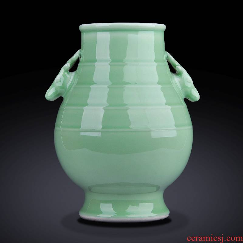 Jingdezhen ceramics vase flower arranging new Chinese style household, the sitting room porch decoration TV ark, rich ancient frame furnishing articles