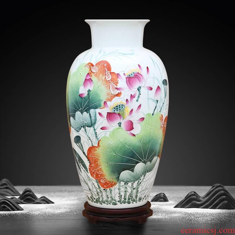 A large lotus rhyme vase to industry