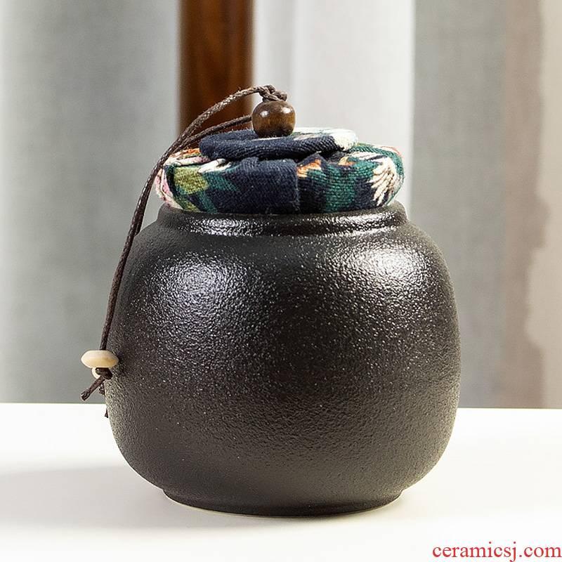 Ya xin company hall, black pottery tea pot seal storage POTS pu - erh tea, black tea storage tanks moistureproof manual small POTS