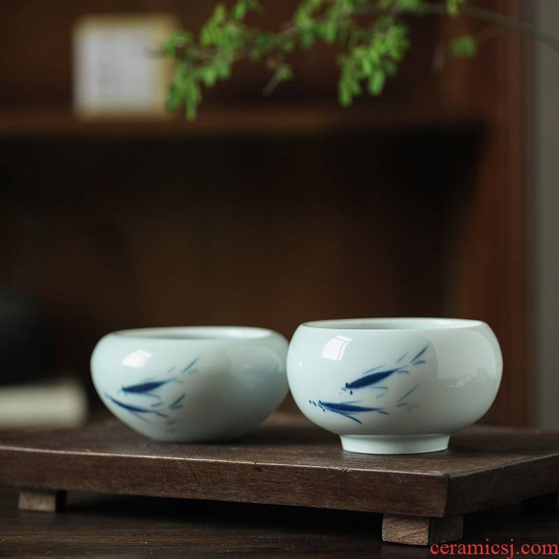 Jingdezhen ceramics ashtray creative move fashion wind restoring ancient ways large living room home office decoration