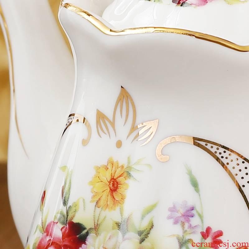Qiao mu CMK European ceramic seasoning soy sauce vinegar bottle box of salt pot set home kitchen creative capacity