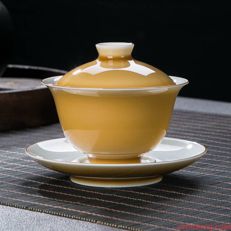 Glaze tureen masters cup of jingdezhen ceramic tea set personal special gifts home a single three tureen tea cups