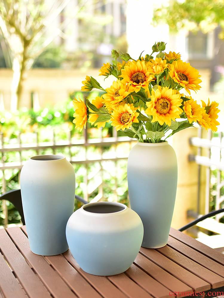 New Chinese style furnishing articles of jingdezhen ceramic vase of I sitting room porch TV ark, wine home decoration decoration