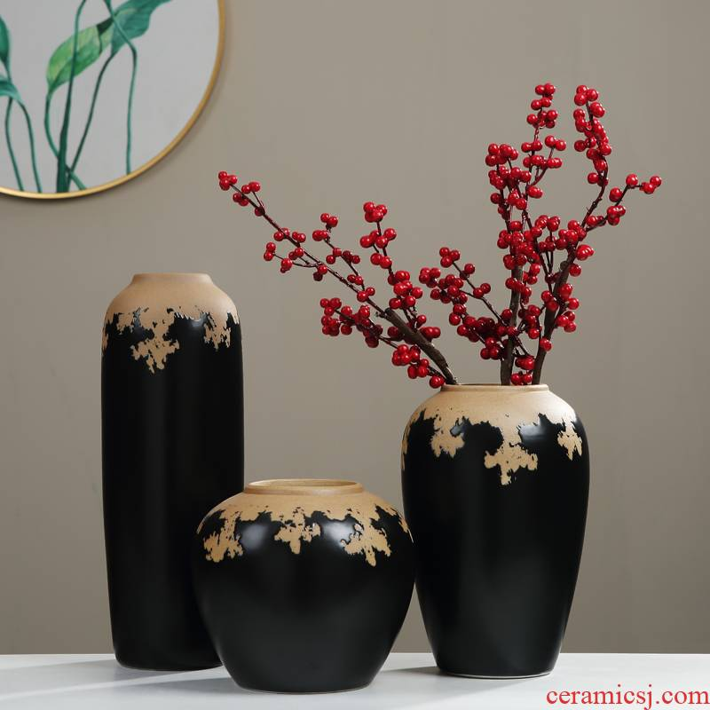 New Chinese style vases, furnishing articles ceramic table decorations sitting room porch decoration flower arrangement between zen example TV ark