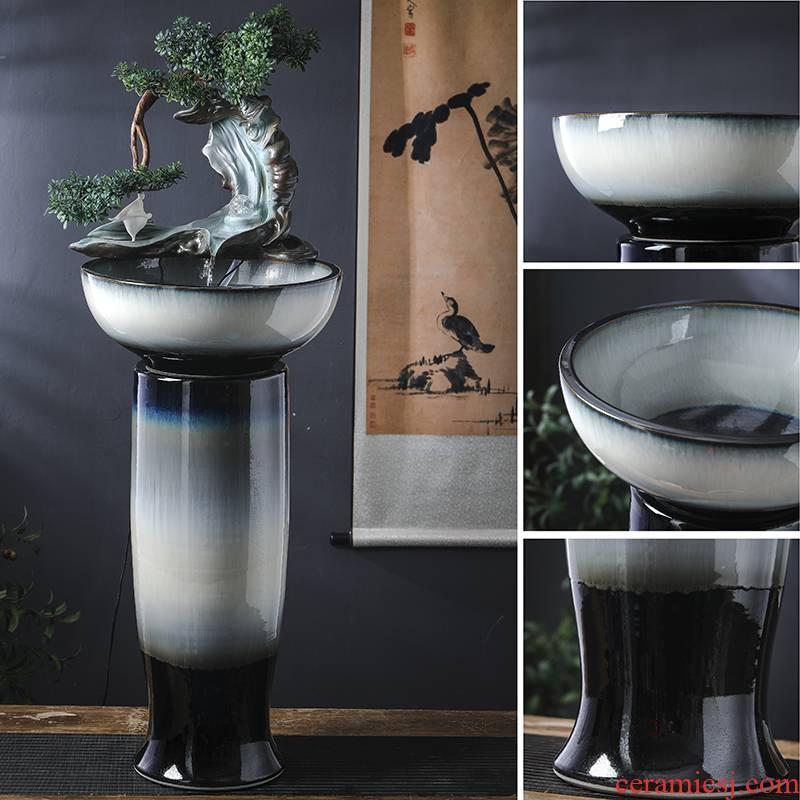 Jingdezhen ceramic aquarium creative furnishing articles home sitting room ground water - oxygen golden aquarium fish bowl