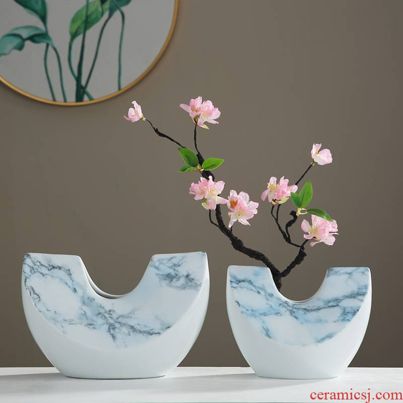 Modern ceramic vase dried flower arranging flowers is placed the new Chinese style of the sitting room porch ark, TV ark, household soft adornment