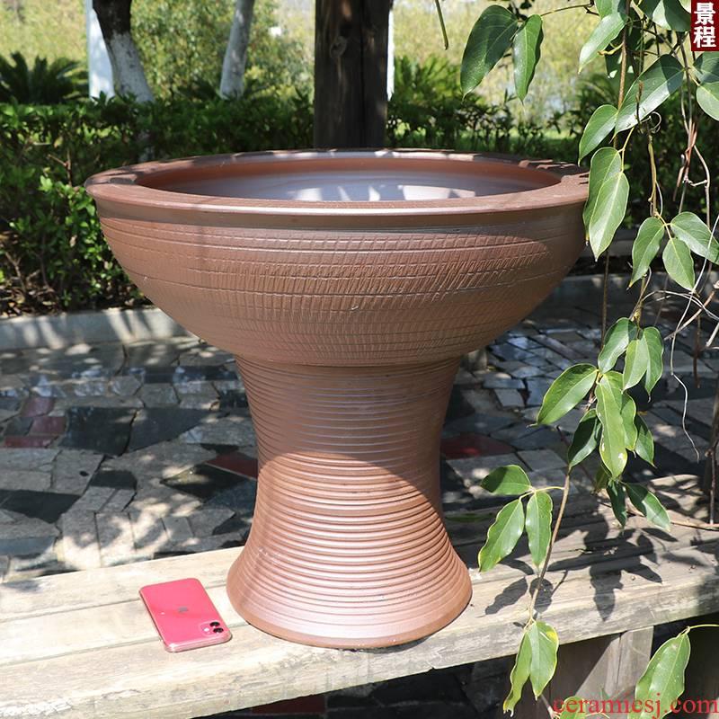 Ceramic basin ground fish tank water lily large goldfish bowl lotus garden column type restoring ancient ways is the tortoise GangPen jingdezhen