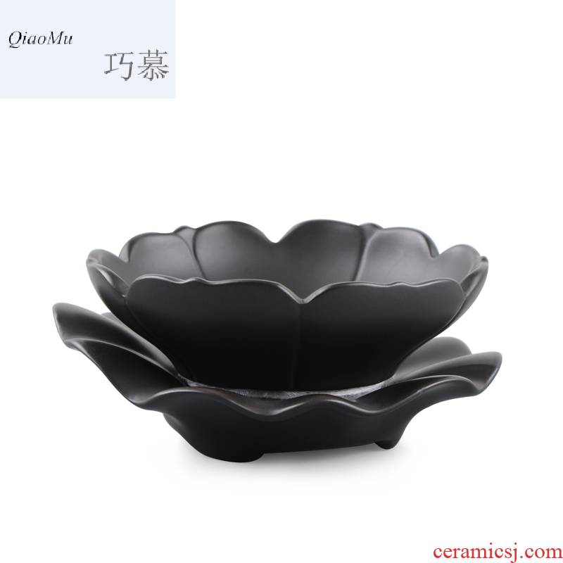 Qiao MuPuEr lotus tea strainer violet arenaceous kung fu tea set filter undressed ore) spare parts for the tea taking