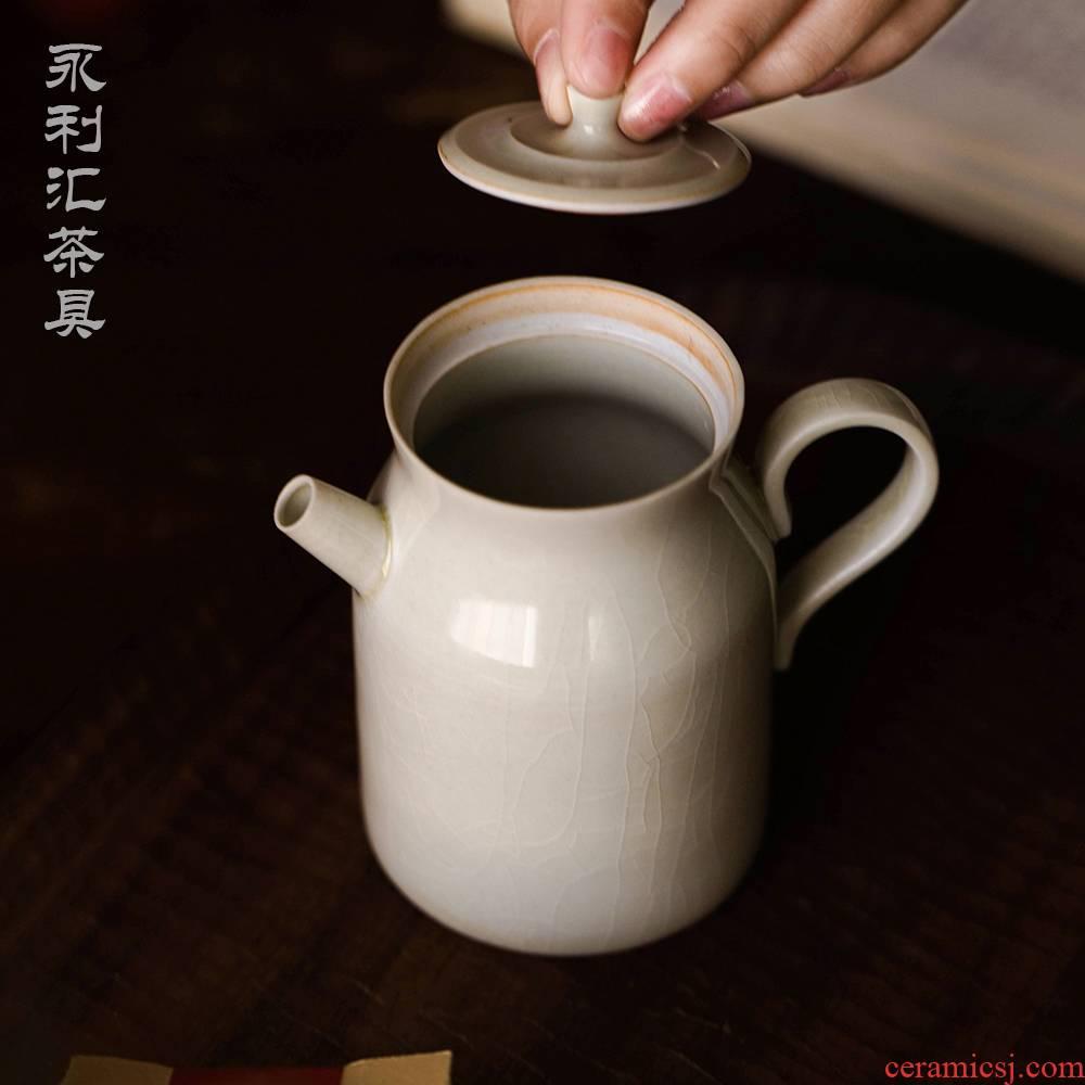 One little teapot with dahongpao teapot single pot small filter Japanese kung fu tea set of jingdezhen ceramics