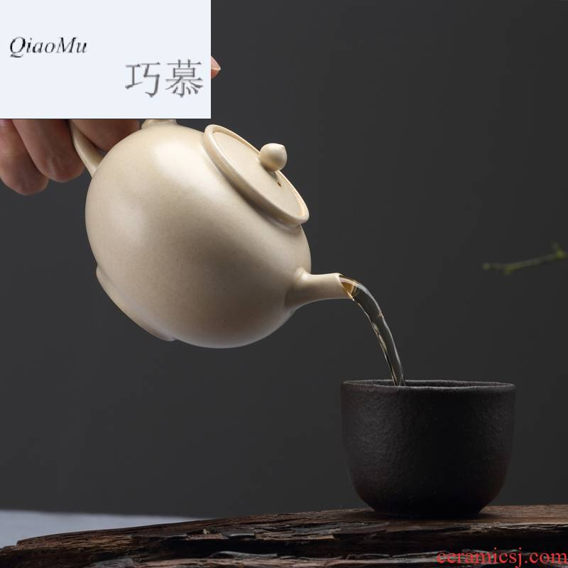Qiao mu jingdezhen TaoMingTang ceramic POTS mini small white clay pot of narrow kung fu ceramic manually start the teapot