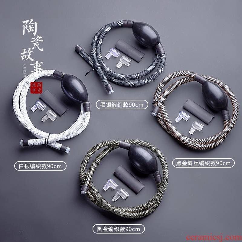 The Story of pottery and porcelain tea tray with suction drain copper tapping to be ball silicone drainage hose dross barrels tea accessories