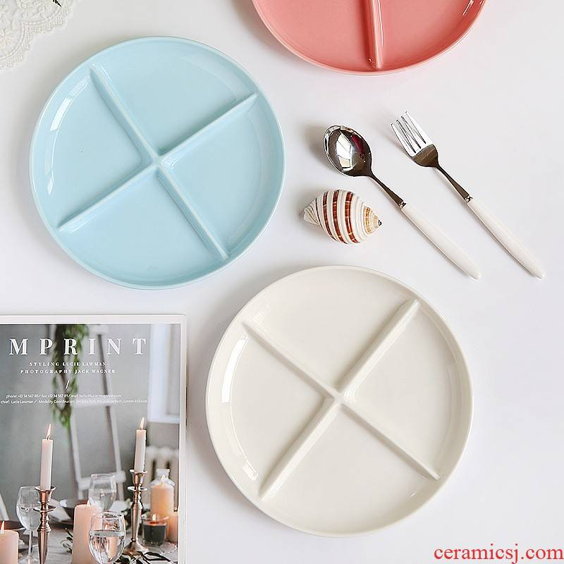 2021 household ceramics round table all the dish reduced fat tableware breakfast tray 1 cent eat dish plates 9 inches