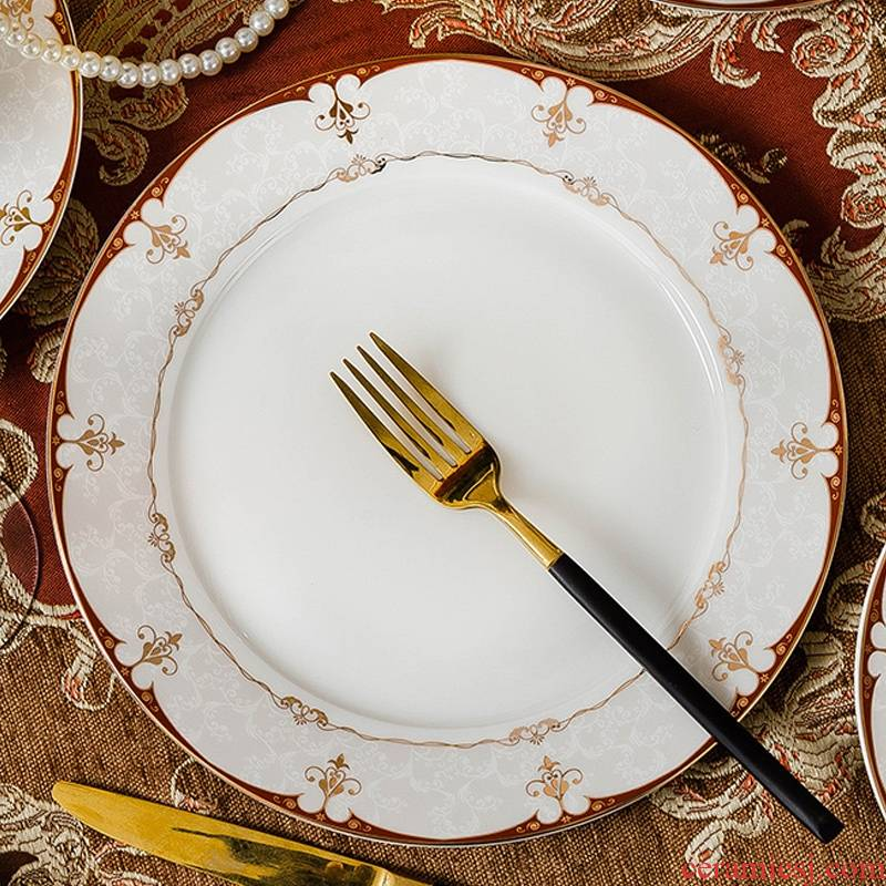 Qiao mu jingdezhen ceramic tableware suit Chinese ceramic dishes suit household Japanese bowl dish Korean chopsticks