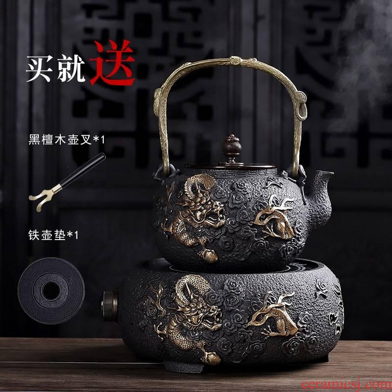 For electricity TaoLu cast iron pot boiling teapot household utensils suit teapot tea stove boiling pot of tea