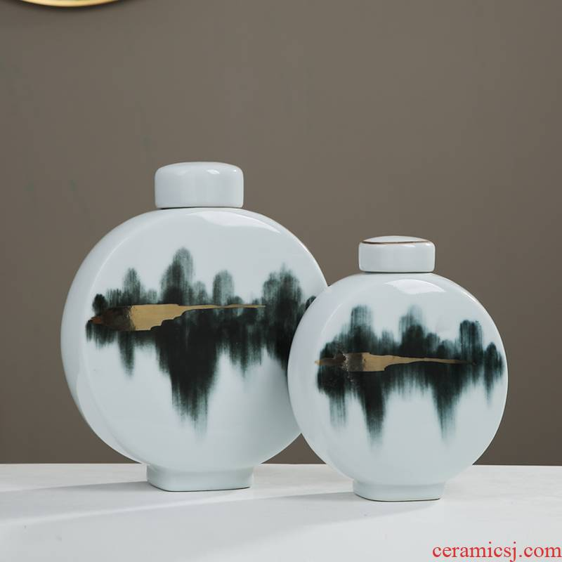 Creative new Chinese style ceramic furnishing articles into the dried sample room home sitting room tea table wine cabinet TV soft adornment