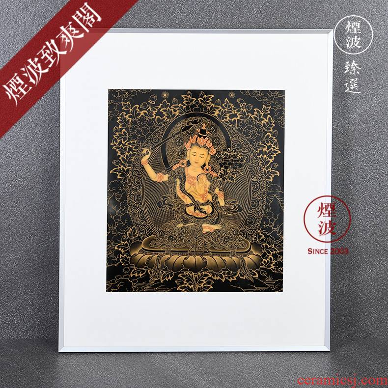 Those worship system of jingdezhen hand - made thangka porcelain plate painting pastel this life not gold Buddha