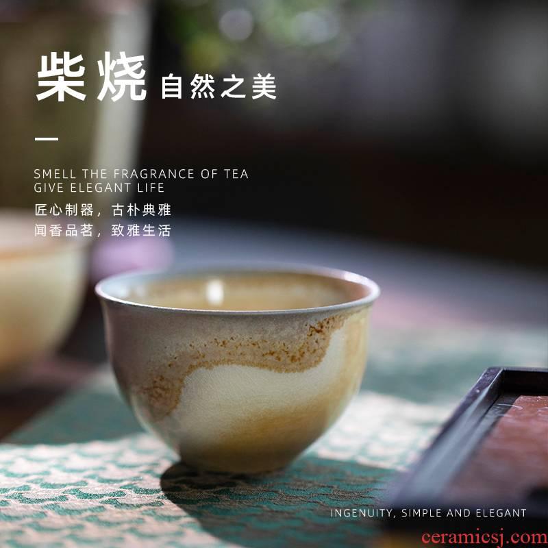 Jingdezhen firewood ocean 's cup 100 ml sample tea cup single CPU ceramic tea bowl masters cup kung fu tea cups