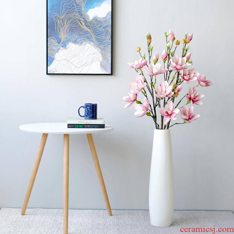 Sitting room ceramic vase landing dried flowers contracted large flower arranging high decorative furnishing articles thin ceramic creative vase