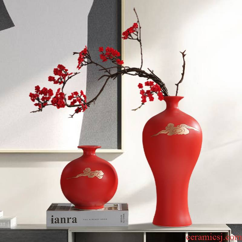 Jingdezhen zen TV ark, flower arranging new Chinese style ceramic vase furnishing articles, the sitting room porch decoration, household act the role ofing is tasted