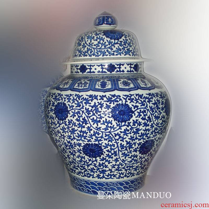Jingdezhen up atmosphere general pure hand - made dress dragon tank air landing even general can tie up branches