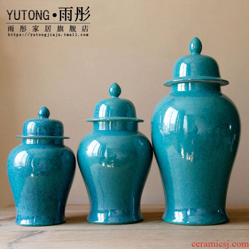 Rain tong household jingdezhen ceramic checking ceramic pot general installed domestic act the role ofing household sitting room place the vase