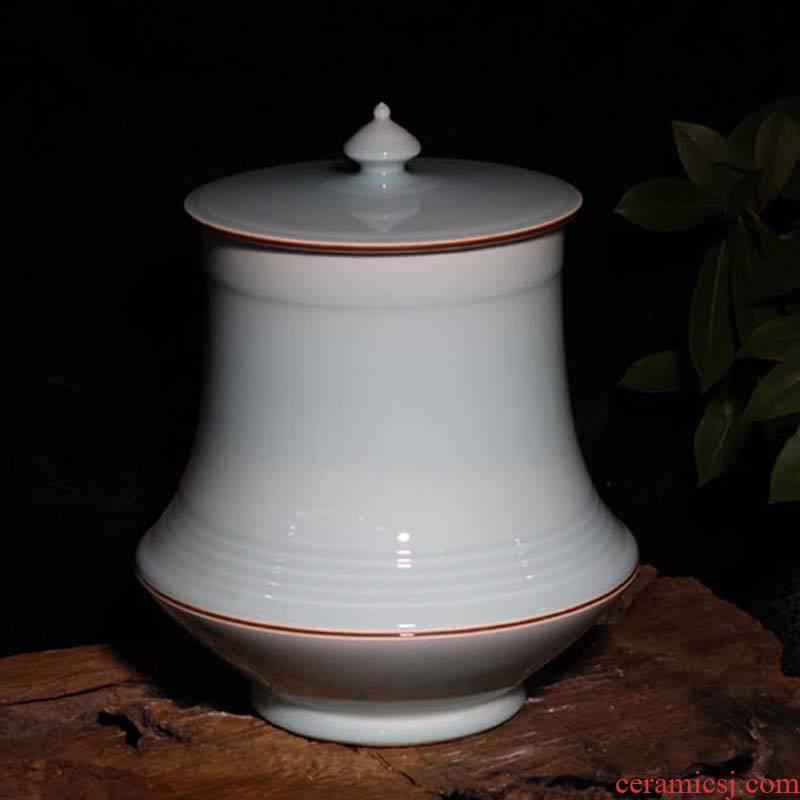 Jingdezhen 25 kg abnormity monochromatic celadon porcelain tea pot home decoration furnishing articles high - end collectibles
