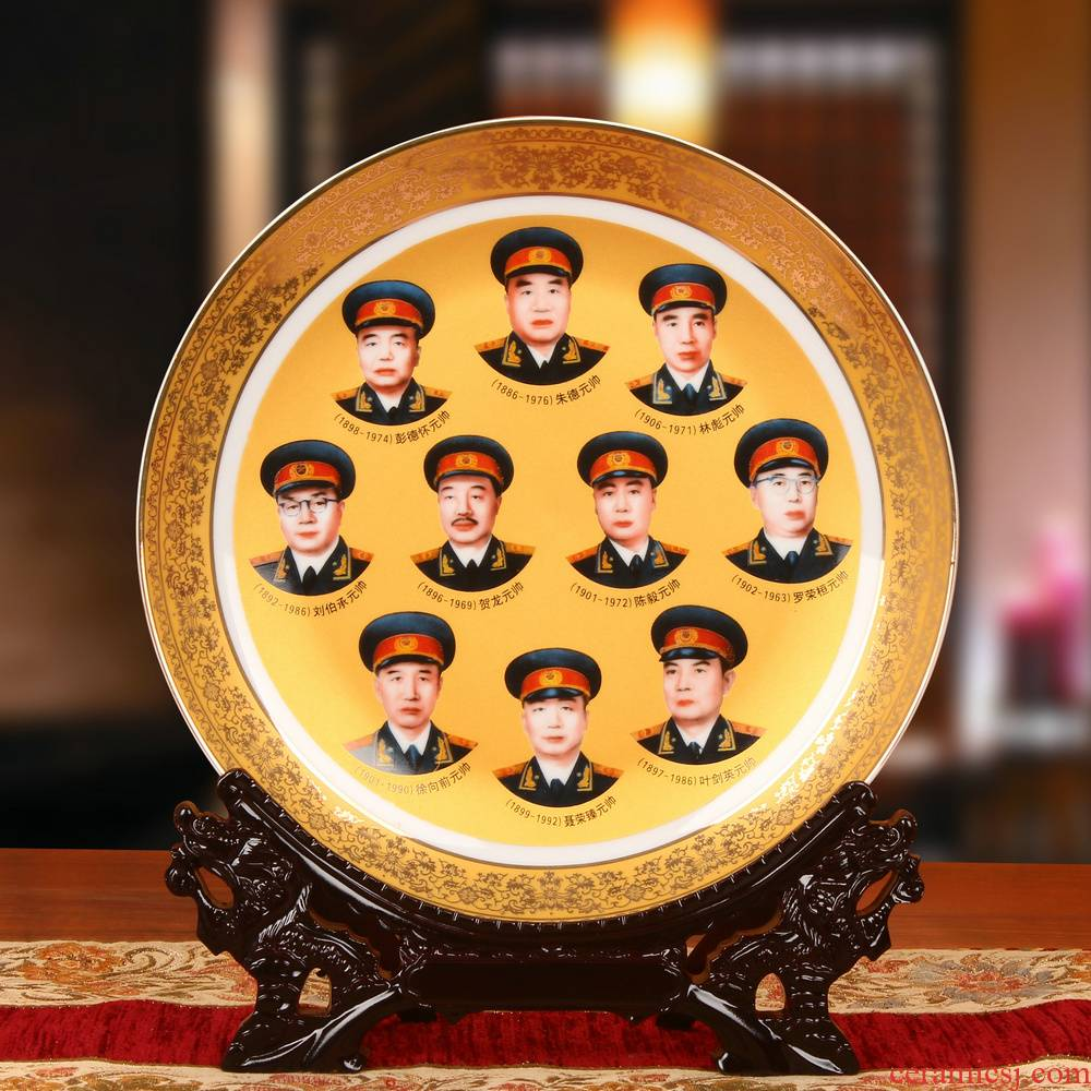 Jingdezhen ceramics, the founders of up phnom penh, exploits ten generalissimo faceplate hang dish plate office furnishing articles