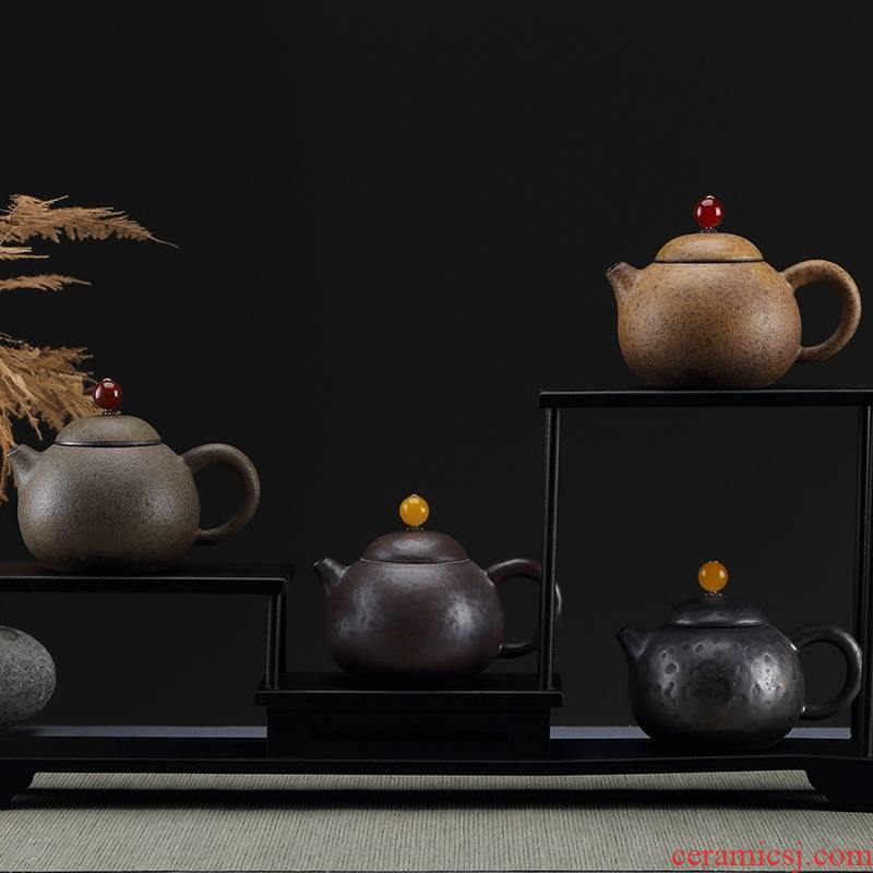 Qiao mu manual coarse pottery to restore ancient ways small household kung fu tea tea teapot xi shi pot of boiled tea pot are it list