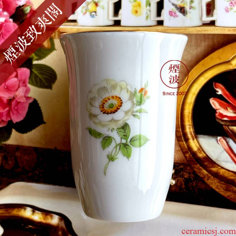German MEISSEN porcelain mason see colour white floret fragrance - smelling cup series naturalistic painting of flowers and cups