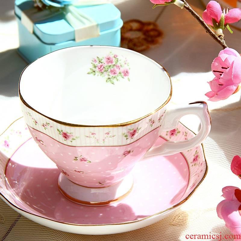 Qiao mu coffee cup suit European ipads China English afternoon tea tea coffee cups and saucers ceramic tea cup small key-2 luxury