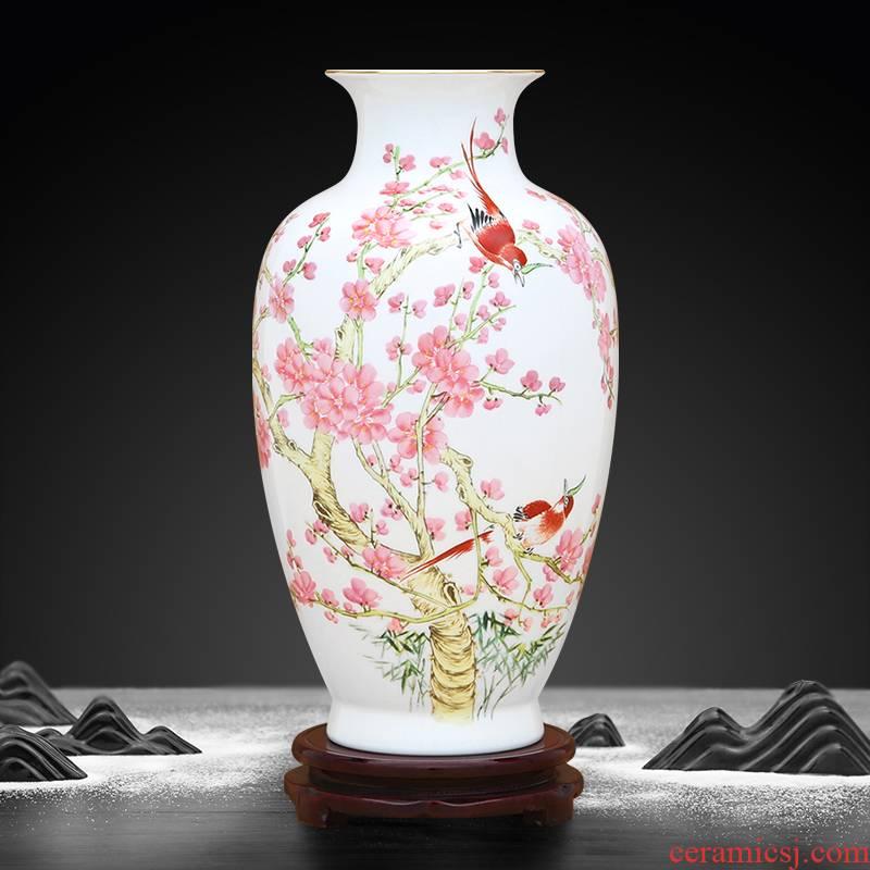 To ceramics high uncluttered Jin Fushou vase ten thousand broke