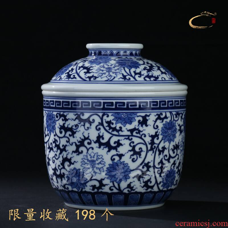 And auspicious jingdezhen ceramic tea pot cncondom flowers wrapped branch canister to pure manual kung fu tea POTS