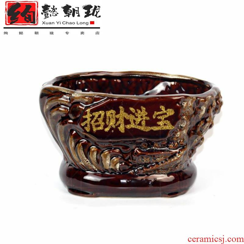 Flowerpot ceramic large clearance package mail creative move classical fashion flower implement rich tree flower pot sitting room