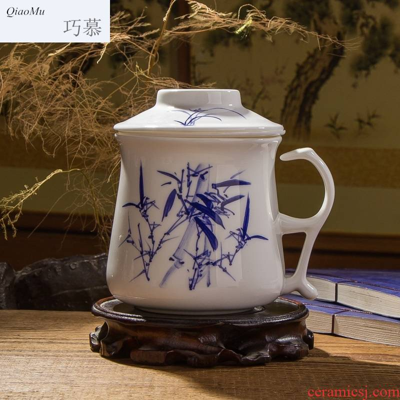 Qiao mu tea cups porcelain of jingdezhen ceramic cup cup office cup and cup tea set