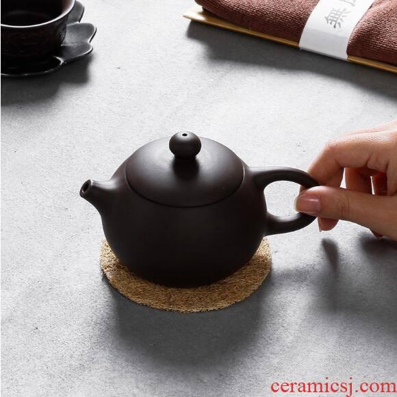 Ceramic xi shi pot of yixing purple sand tea pot of purple clay manually single pot of kung fu tea kettle ores are it