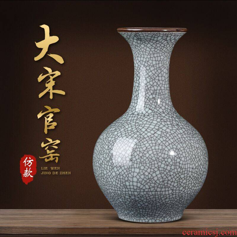 Archaize crack of jingdezhen ceramics up vase furnishing articles of Chinese style household flower arranging rich ancient frame sitting room adornment