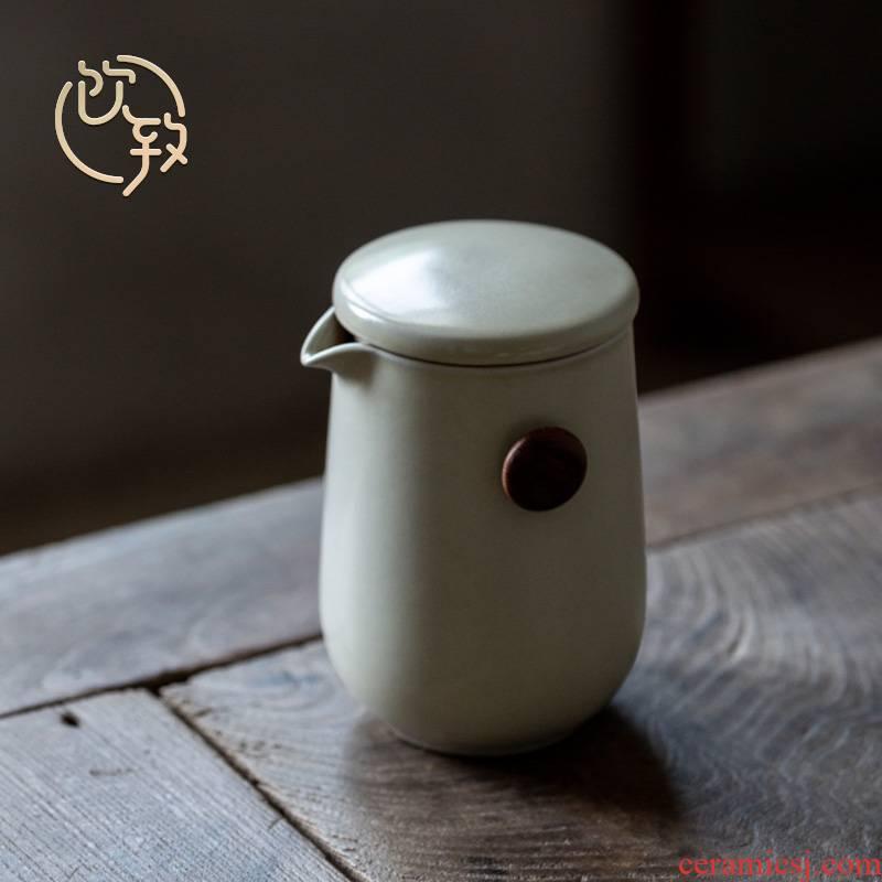 Ultimately responds to ceramic teapot Japanese domestic large capacity filter pot plant ash glaze the hot pot to crack the glass
