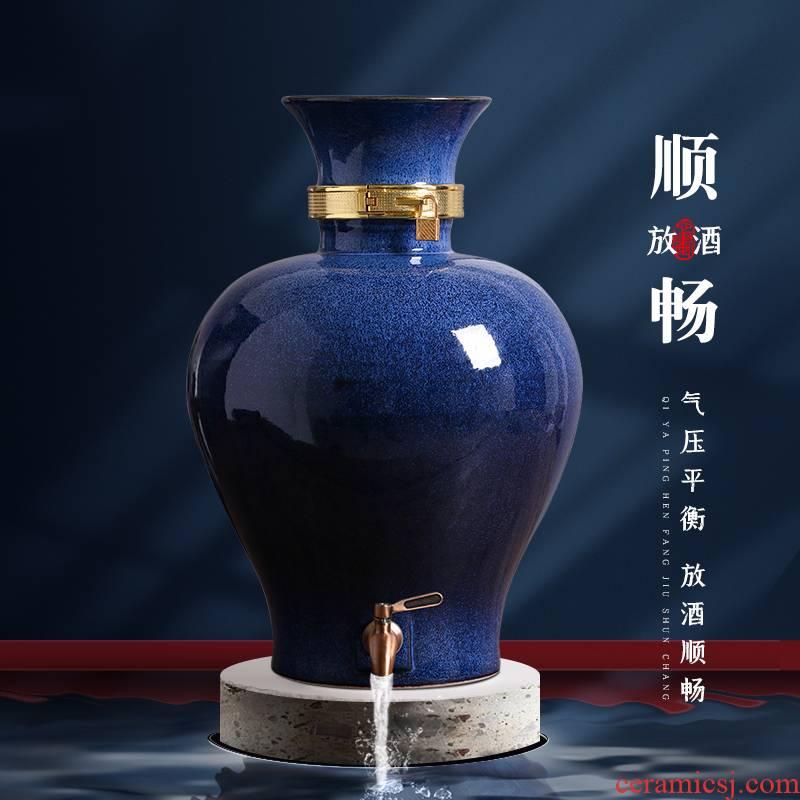 Jingdezhen ceramic wine jars custom (jin put household sealed mercifully jars with leading archaize jugs