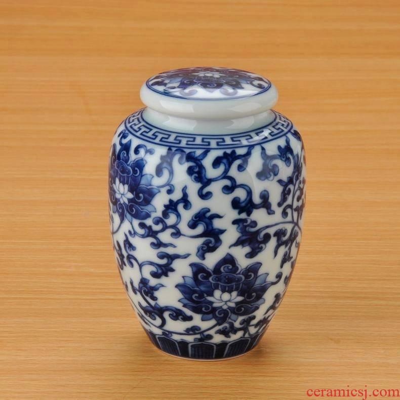 Qiao mu jingdezhen ceramic tea pot moistureproof jar airtight canister porcelain 'lads' Mags' including nuts trumpet