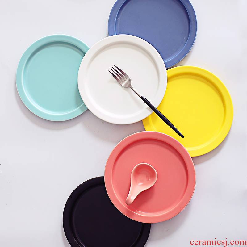 The Original creative breakfast plate meal plate ceramic snacks dessert dish dish dish home plate beefsteak dish
