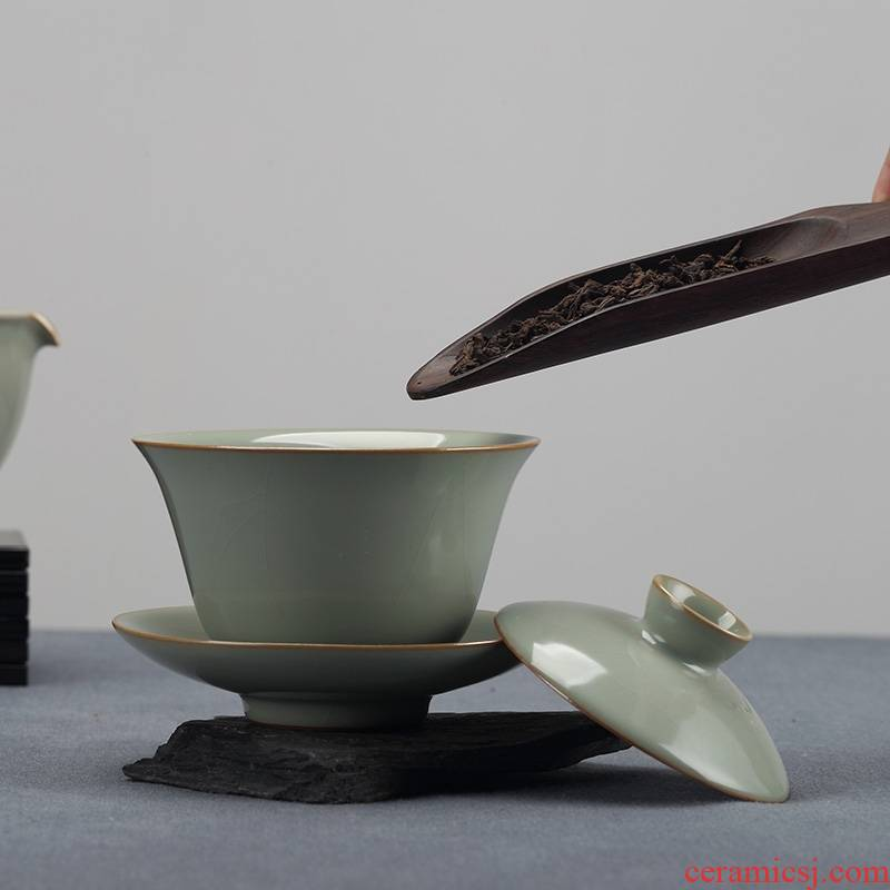 Qiao mu measured your up tureen suit creative kung fu tea cups of a complete set of can keep on household ceramic teapot restoring ancient ways