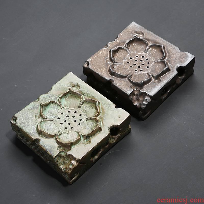 Japanese zen pot bearing Chinese square bearing plate retro ceramic tea set dry mercifully tea pot lotus small tea sets tea sea